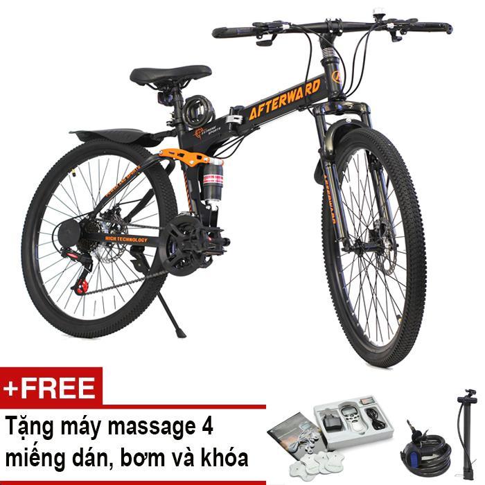 Xe đạp gấp địa hình AfterWard MK94 + Tặng máy massage 4 miếng dán, bơm và khóa chống trộm