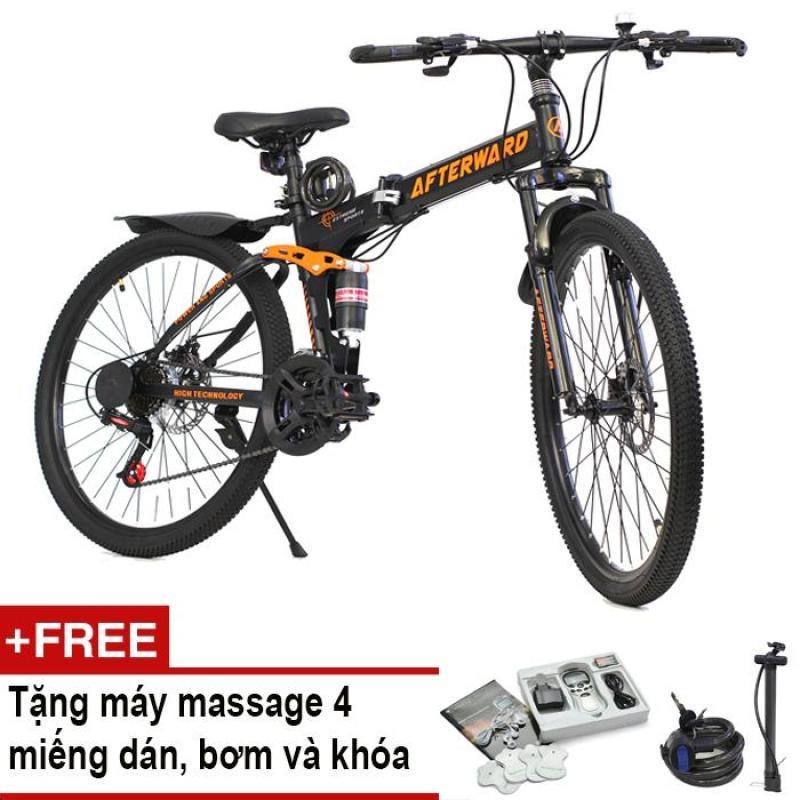 Mua Xe đạp gấp địa hình AfterWard MK94 + Tặng máy massage 4 miếng dán, bơm và khóa chống trộm