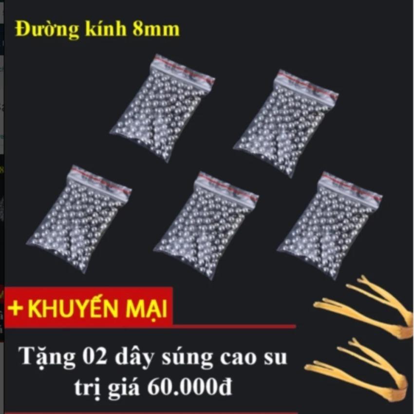 Giá Bán Bộ 500 Bi Sắt 8Mm Na Cao Su Tặng 2 Day Cao Su