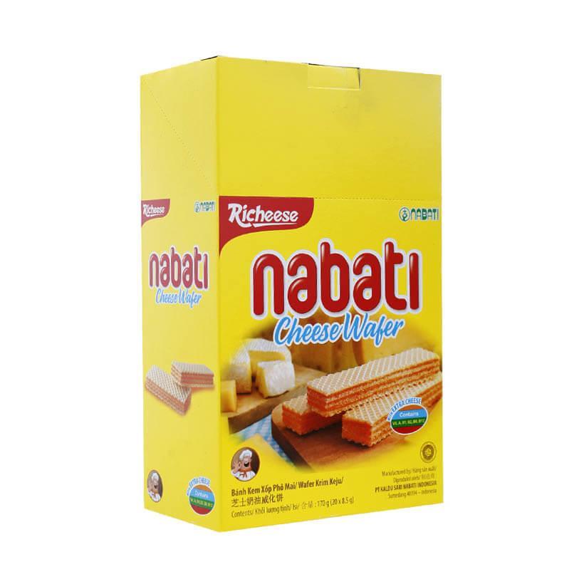 Hình ảnh Bánh xốp Nabati nhân kem phô mai 170g (20 gói)