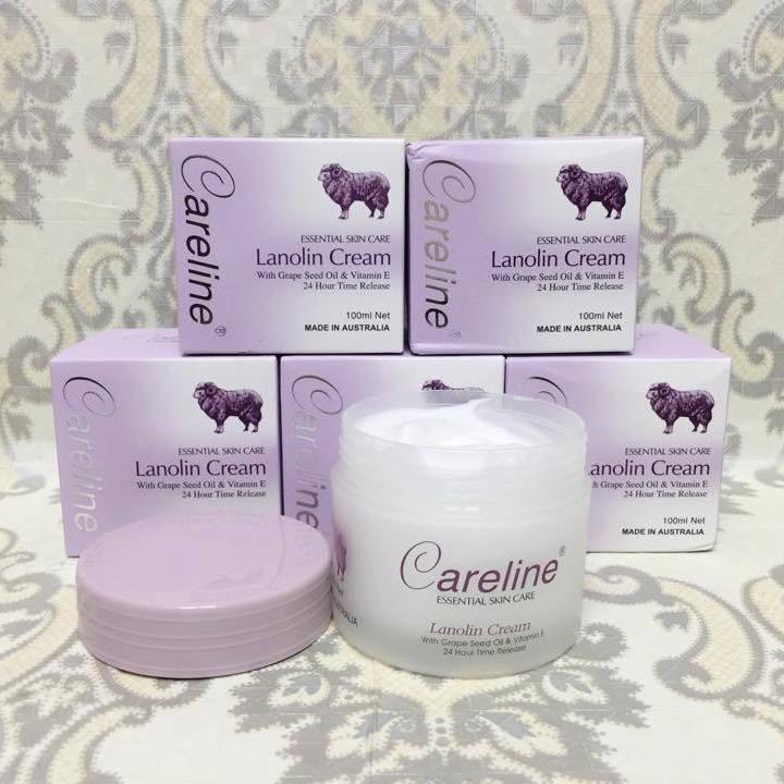 Kem dưỡng da nhau thai cừu của Úc Careline Lanolin cream loại 100g nhập khẩu