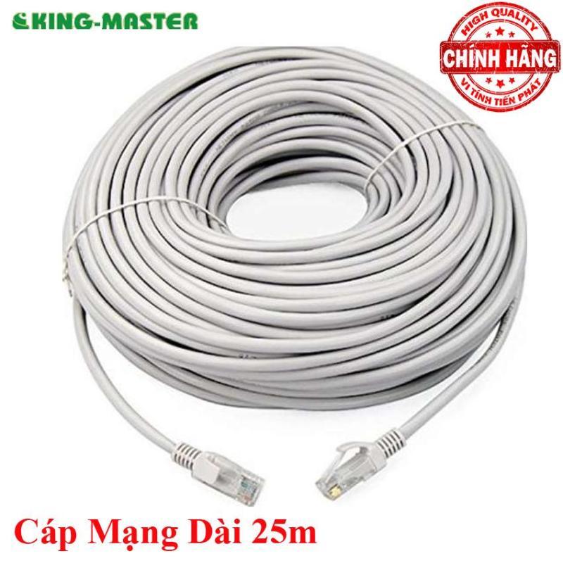Bảng giá Dây cáp mạng LAN Internet bấm sẵn KingMaster dài 25m chuẩn cat 5e Phong Vũ