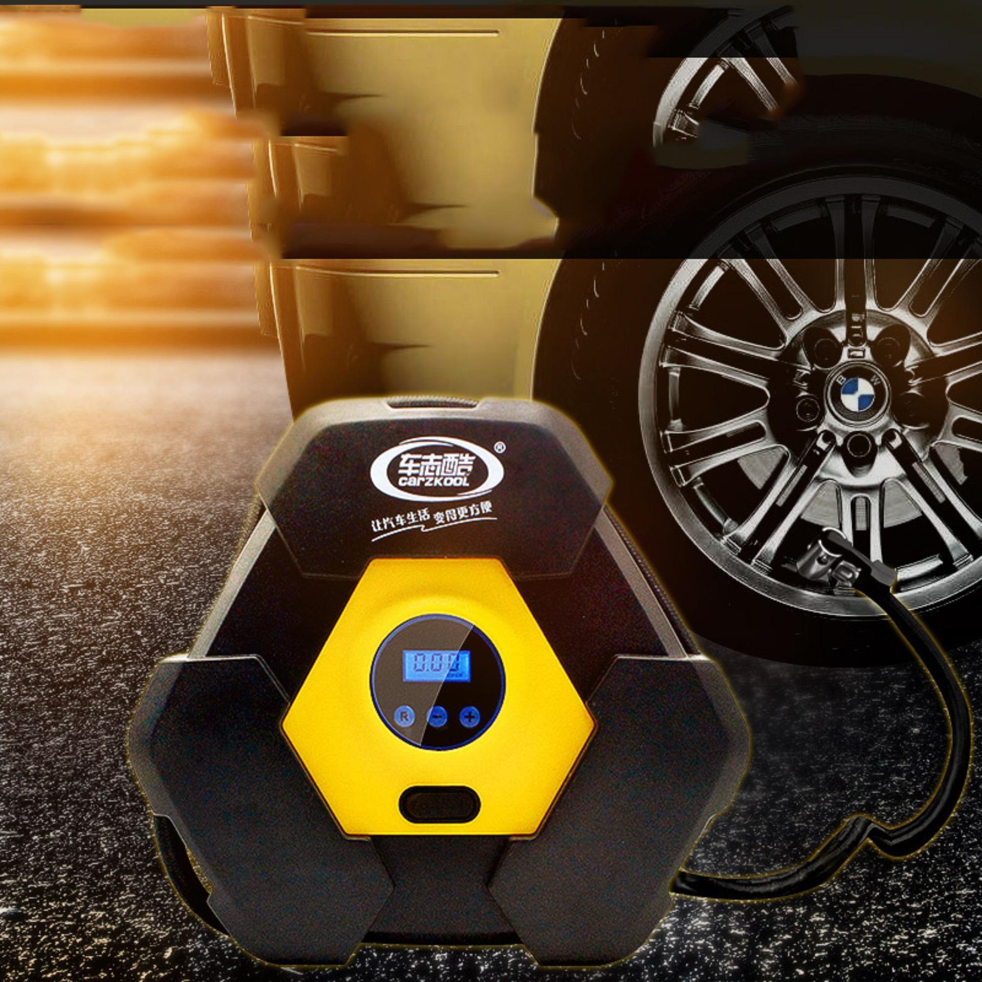 Hình ảnh Bơm xe máy mini gia re, Bơm lốp xe ô tô bao nhiêu kg, Máy bơm lốp ô tô, xe hơi, xe máy, xe đạp… CARZKOOL loại 12v có màn hình hiển thị LED Sản phẩm cao cấp dành cho mọi loại xe-Giảm giá số lượng có hạn