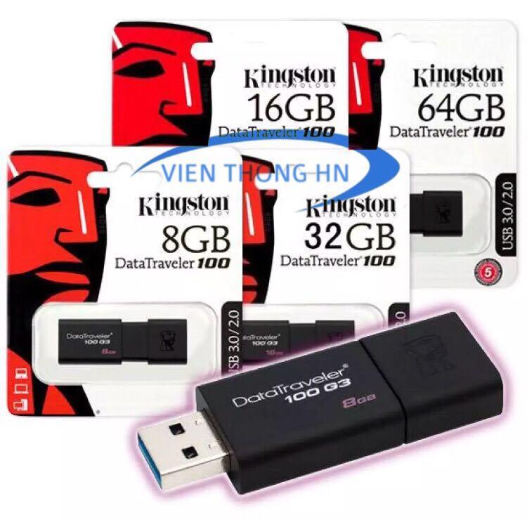 Hình ảnh USB 3.0 8GB 16GB 32GB 64GB Kingston DT100 G3 - CAM KẾT BH 1 ĐỔI 1 5 NĂM