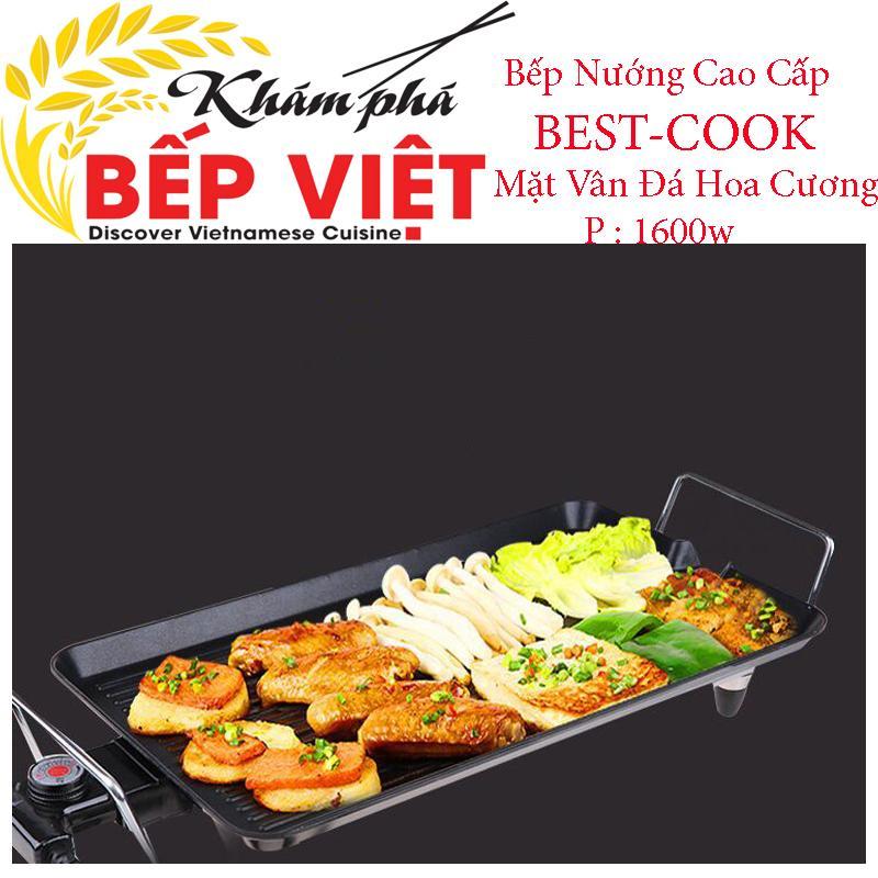 Bep Nuong Dien Khong Khoi Han Quoc, Bếp Nướng Cao Cấp Best-Cook Mặt Vân Đá Hoa Cương Chống Dính 2 Lớp, P=1600W Bảo Hành 1 Đổi 1 Trong 12 Tháng Mã Sp 1231