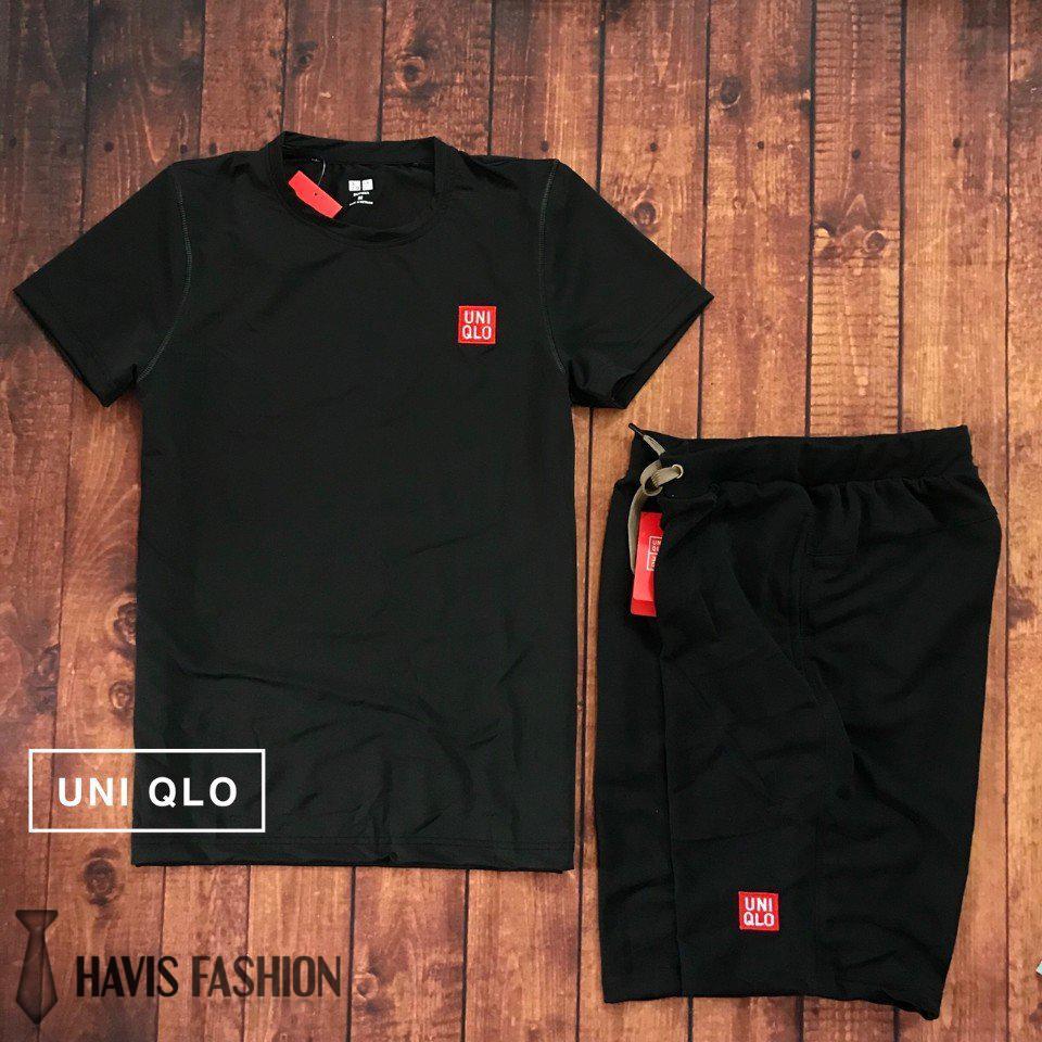 Hình ảnh Set bộ đồ quần áo thể thao nam Uni cao cấp ( đồ tập gym, chạy bộ, chơi thể thao ) SDB006