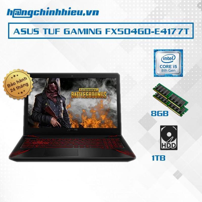 Laptop ASUS TUF Gaming FX504GD-E4177T i5-8300H, 8GB, 1TB, VGA GTX 1050 2GB, 15.6, Win 10 - Hãng Phân Phối Chính Thức