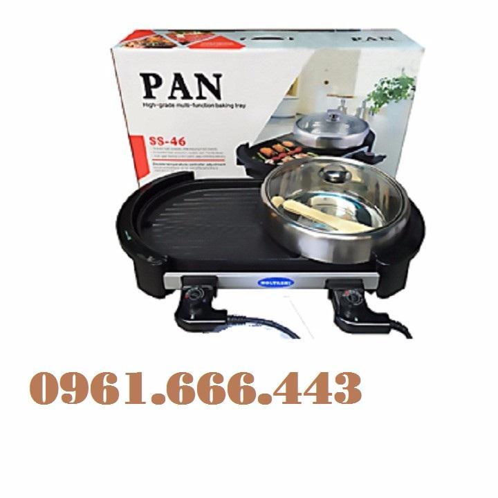Bảng giá Bếp lẩu nướng điện không khói HoLtashi Pan SS46 Nhật ( kèm nồi) Điện máy Pico