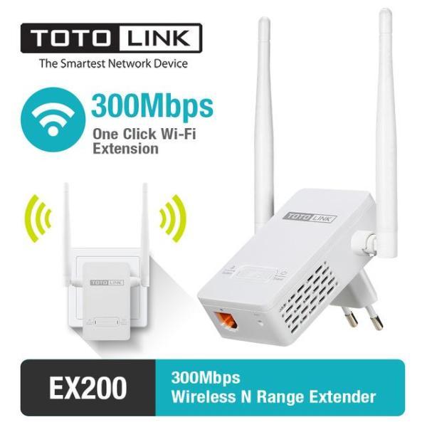 Bảng giá Thiết bị Kích sóng WiFi Repeater TOTOLINK EX200 (Trắng) Phong Vũ