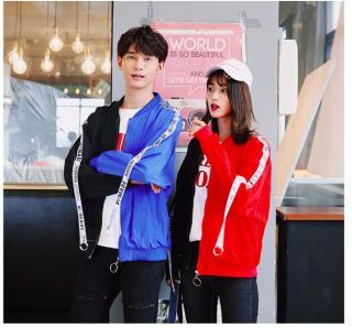ÁO KHOÁC DÙ NỮ PHỐI DÂY 2 MÀU HOT 2018 CHẤT TỐT độc nhất vô nhị phối 2 màu tông độc đáo kiểu mới Hàn Quốc thumbnail