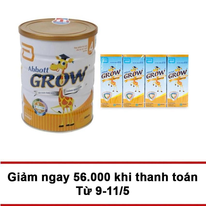 Bán Bộ Sữa Bột Abbott Grow 4 G Power Hương Vani 900G 4 Hộp Sữa Abbott Grow Gold Hương Vani 180Ml Grow Rẻ