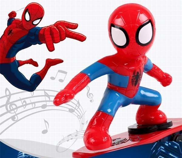 Hình ảnh Người nhện ván trượt - Ván trượt siêu nhân người nhện - Đồ chơi người nhện trượt ván (Hàng đẹp - Loại 1)