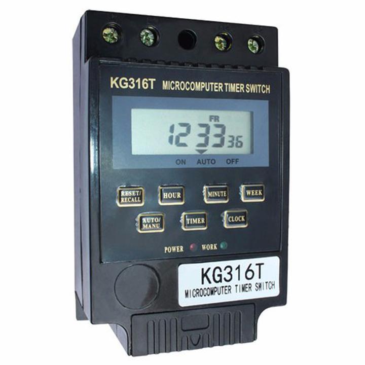 Công tắc hẹn giờ bật tắt thiết bị điện tự động KG316 T màu đen
