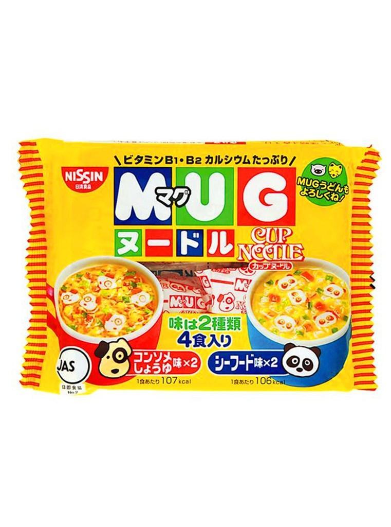 Mỳ Mug Nhật màu vàng gói 94g. Mì ăn liền cho bé vị Hải sản. Mỳ Mug Nissin Nhật bản. Hàng Nhật nội địa