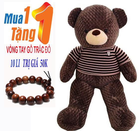 Hình ảnh Gấu Bông TEDDY Khổ Vải 1,1M Cao 90cm Nâu