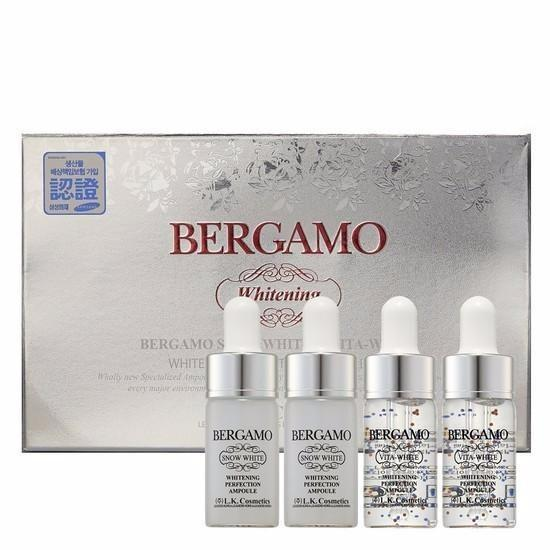 Set 4 chai Siêu tinh chất dưỡng trắng da BERGAMO Snow White & Viva White Whitening Perfection Ampoule Set 13ml x4