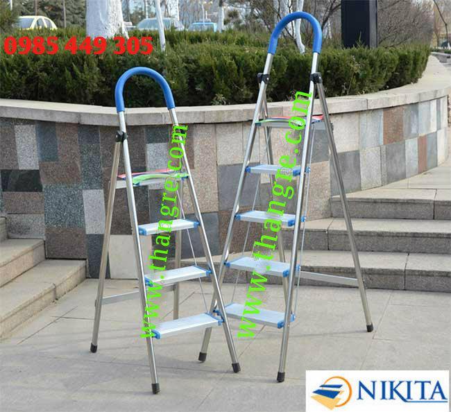 Thang nhôm tay vịn kiểu Đức Nikita Nhật Bản cao 1,5m (DL06)