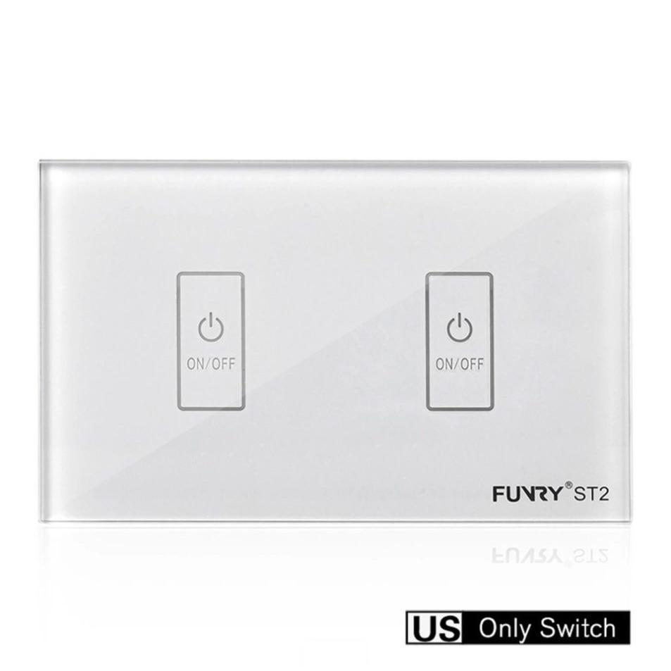 Công tắc RF thông minh 2 nút bấm màu trắng