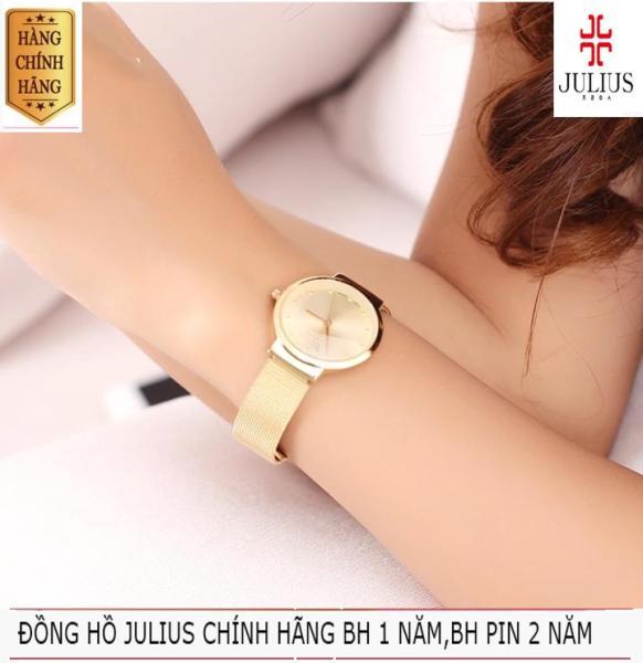 ĐỒNG HỒ NỮ JULIUS HÀN QUỐC DÂY THÉP JA-426 JU1052 (VÀNG) bán chạy