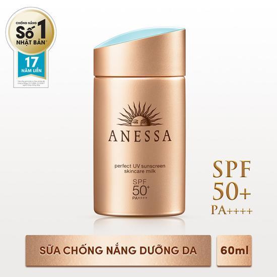 Hình ảnh Sữa chống nắng bảo vệ hoàn hảo Anessa Perfect UV Sunscreen Skincare Milk SPF50+ PA++++ 60ml