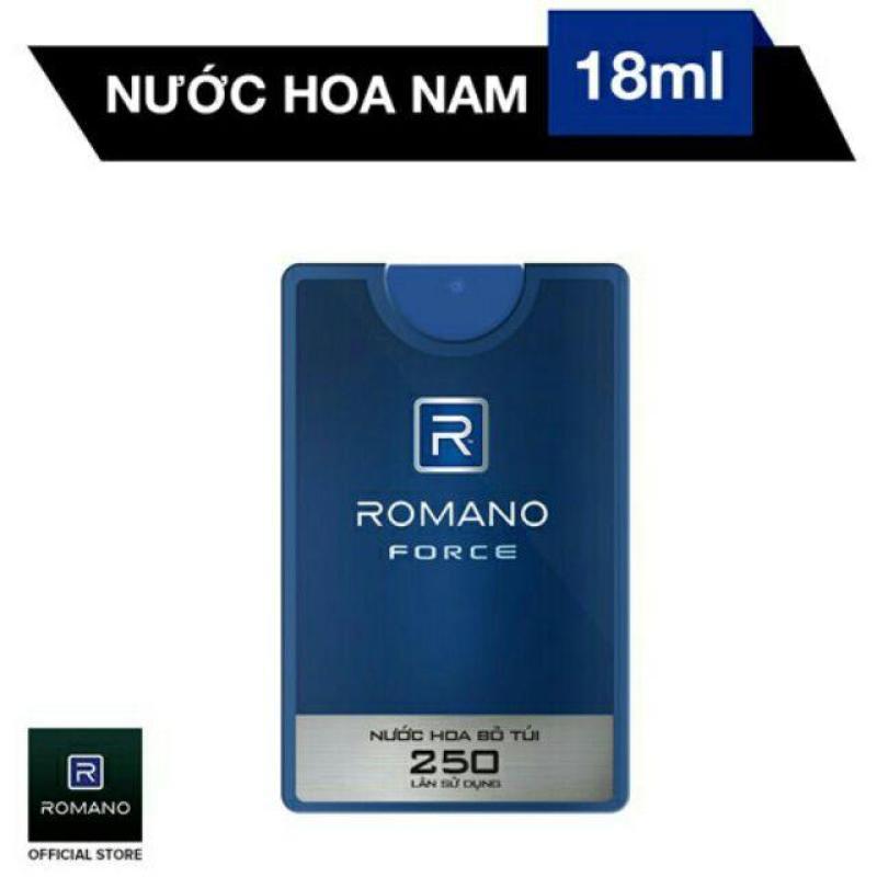 Romano - Nước Hoa Bỏ Túi Force 18ml - 250 lần xịt
