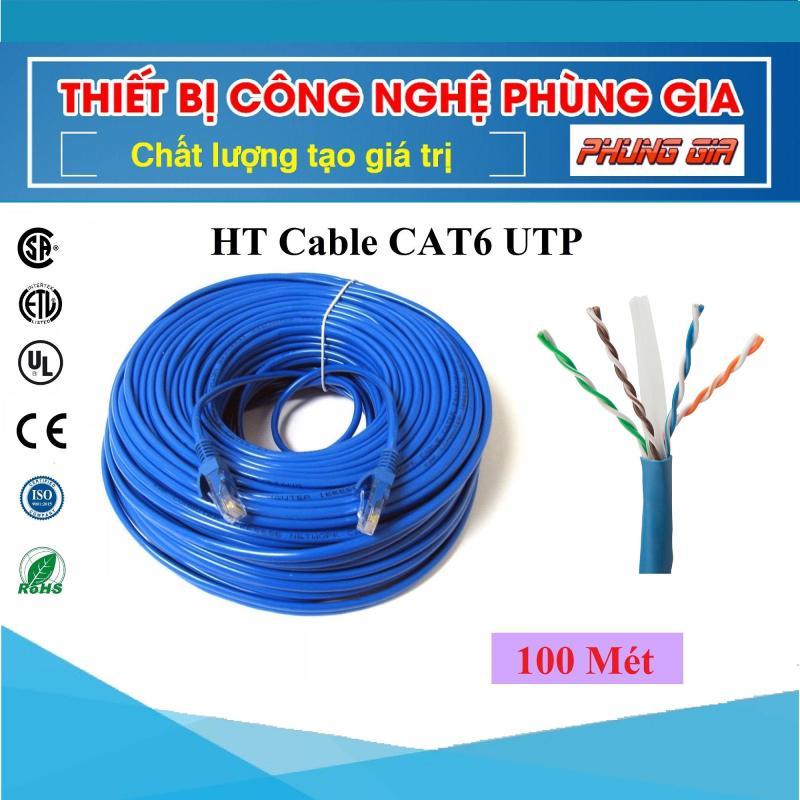 Bảng giá 100 Mét Dây cáp mạng Cat6 UTP HT-Cable - Bấm sẵn 2 đầu Phong Vũ