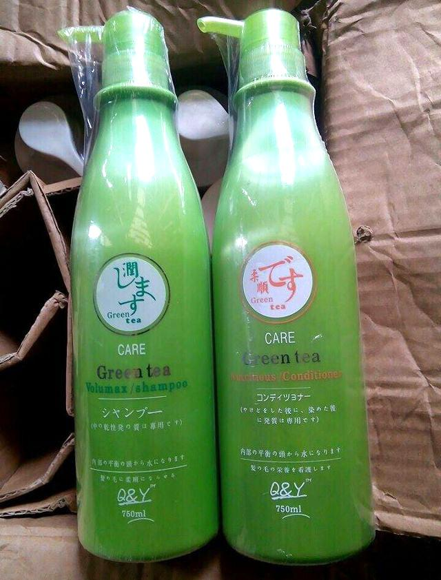 Dầu xả trị gàu chống tóc chẻ ngọn Green Tea Nhật Bản 750ml