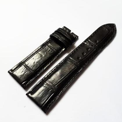 Nơi bán Dây đồng hồ da Cá sấu cao cấp Thái Lan (size 22mm) CSTL (màu đen)