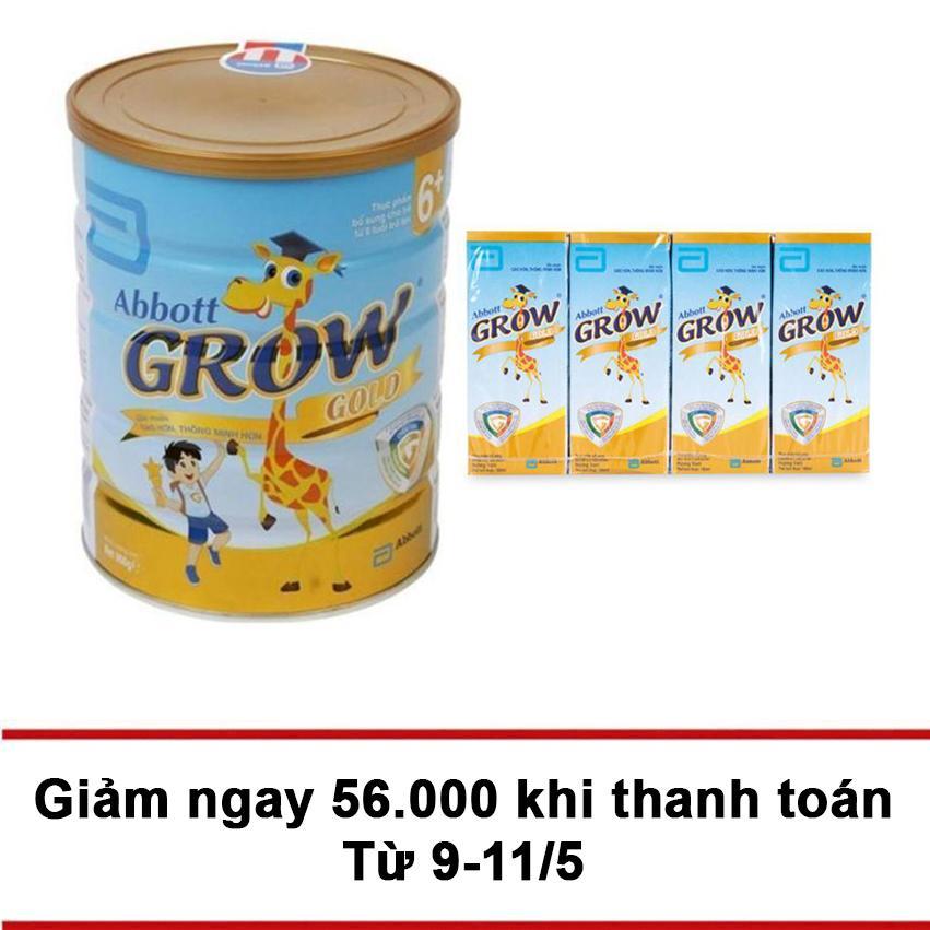 Ôn Tập Bộ Sữa Bột Abbott Grow Gold 6 Hương Vani 900G 4 Hộp Sữa Abbott Grow Gold Hương Vani 180Ml Grow