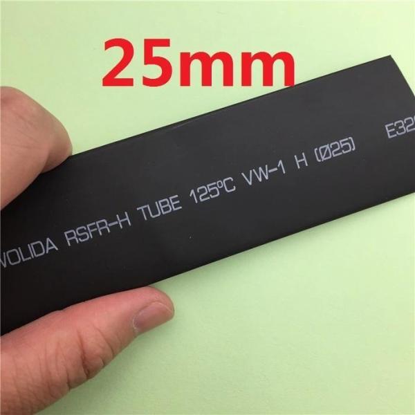 1 mét ống gen co nhiệt phi 25 đen