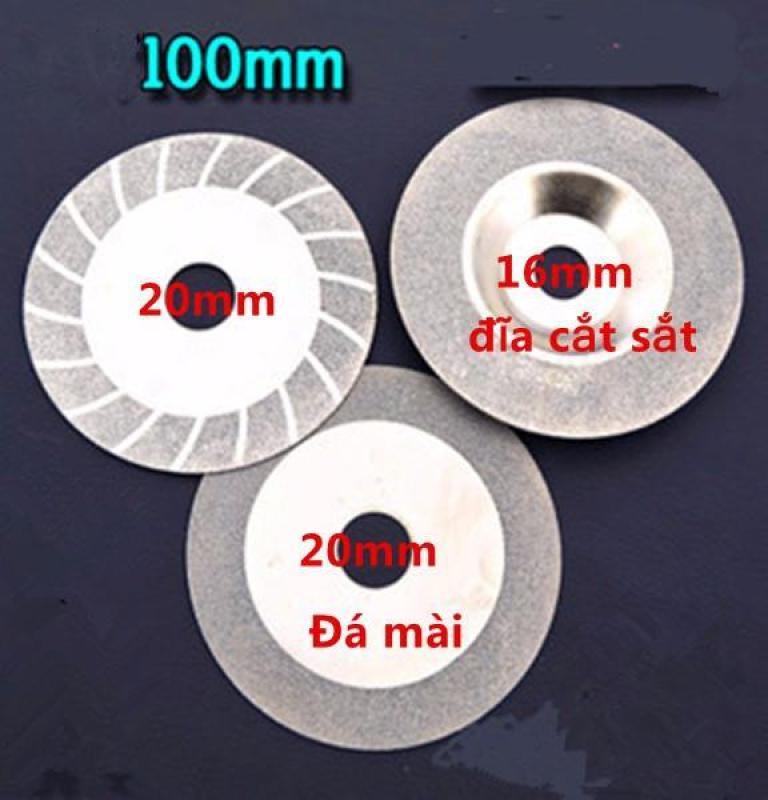 Bộ 3 Đĩa cắt,Đá mài kim cương 100mm