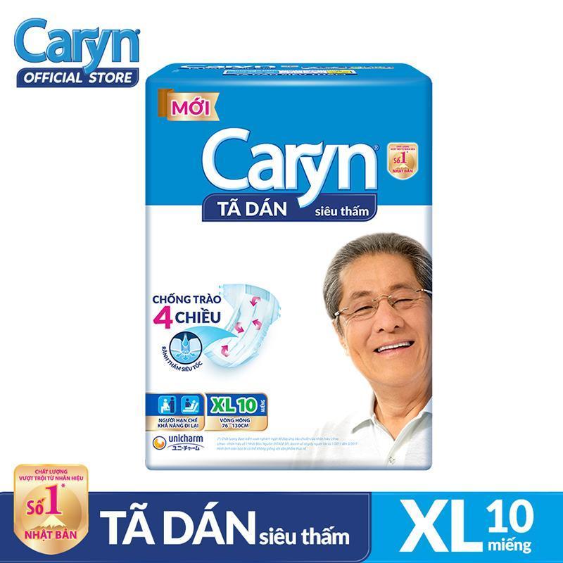 Tã dán Caryn siêu thấm size XL 10 miếng tốt nhất