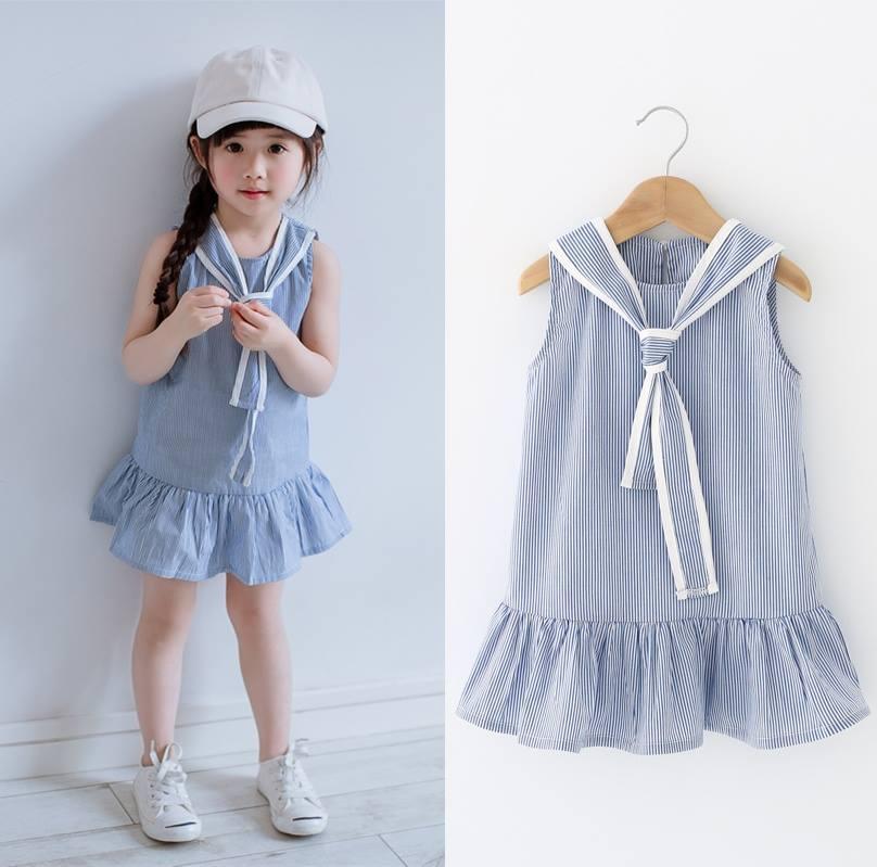 [Sale] Váy kẻ dáng đuôi cá cực yêu dành cho bé
