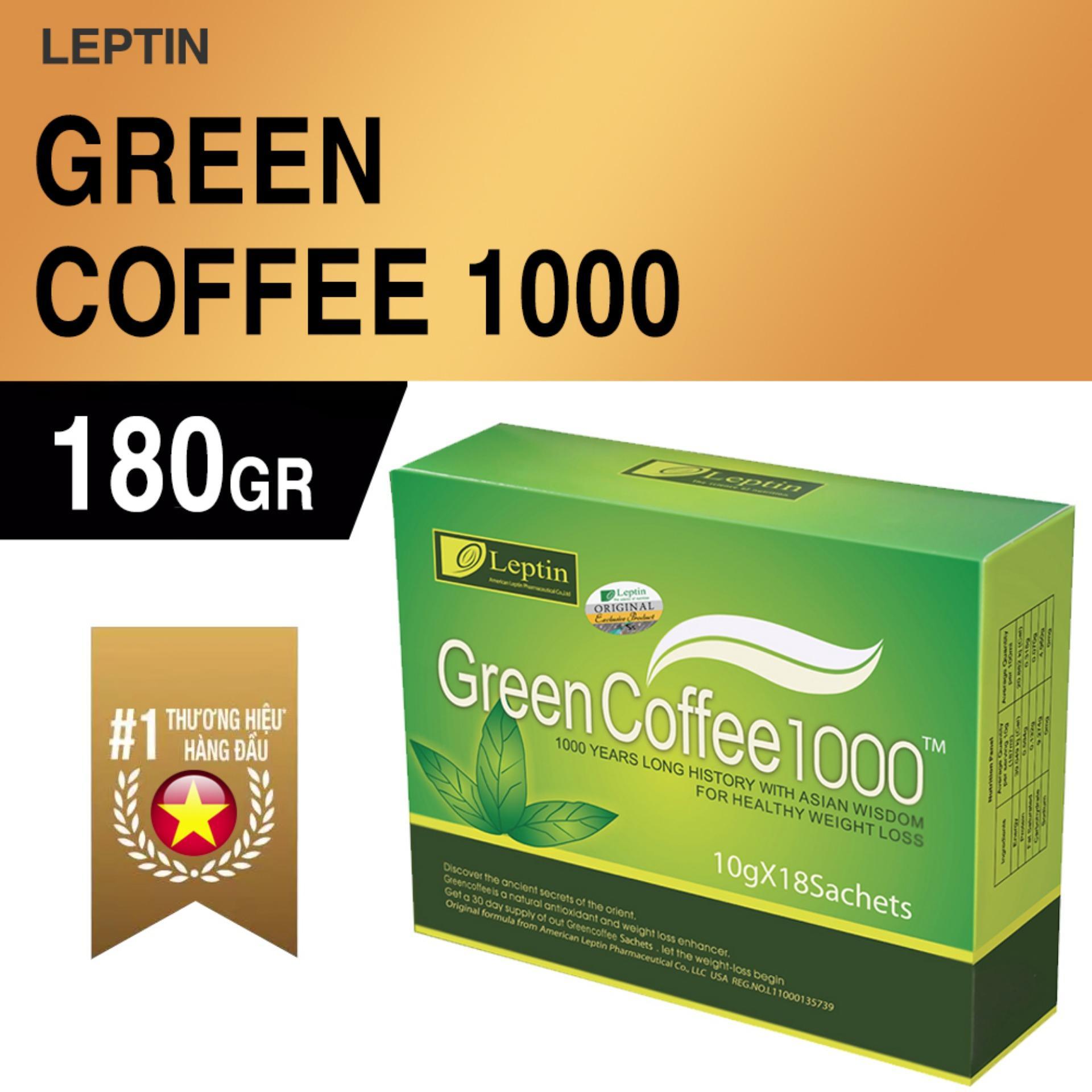 Bộ 3 hộp thực phẩm giảm cân nhanh Green Coffee 1000