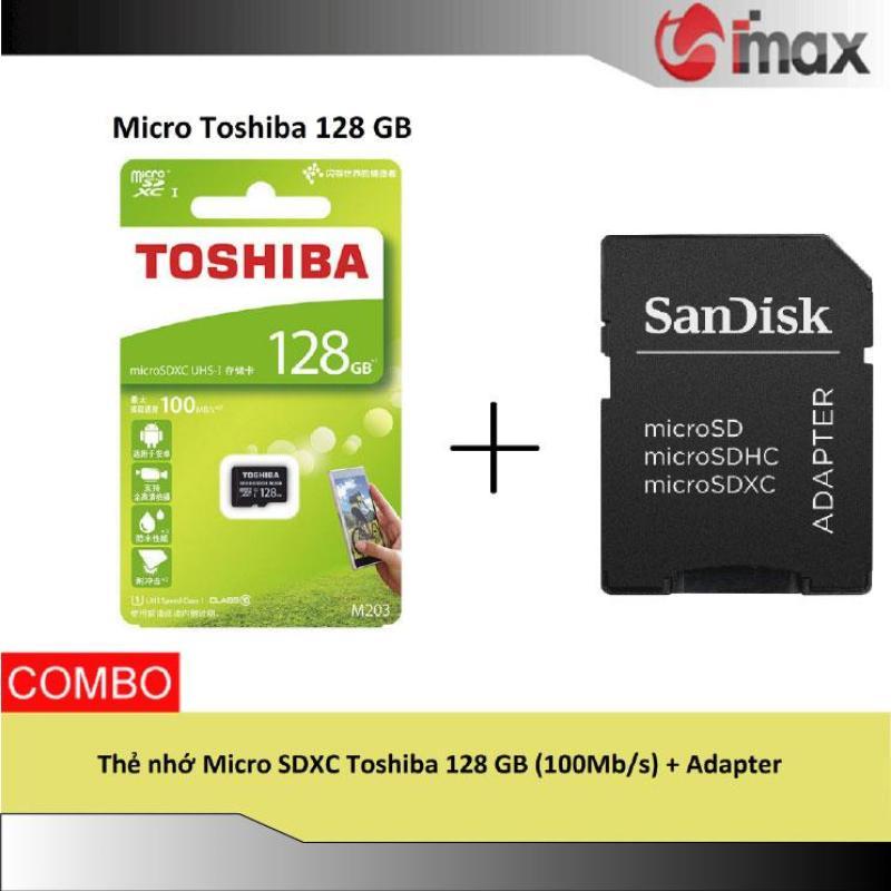 Thẻ nhớ Micro SDXC Toshiba 128 GB (100Mb/s) + Adapter