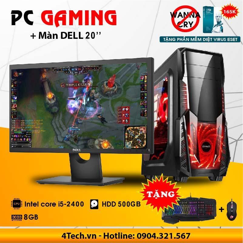 Hình ảnh Bộ máy tính game intel core i5 2400 RAM 8GB 500GB Dell 20 inch LCD Wide