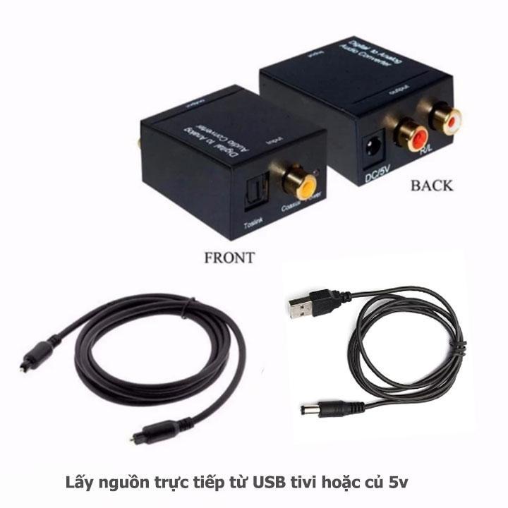 Hình ảnh Bộ chuyển đổi âm thanh tivi Optical sang Av R/L loa , amply