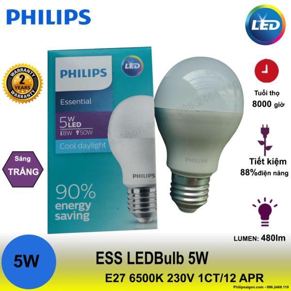Bộ 3 bóng đèn Philips ESS LEDBulb 5W E27 6500/3000K 230V 1CT/12 APR