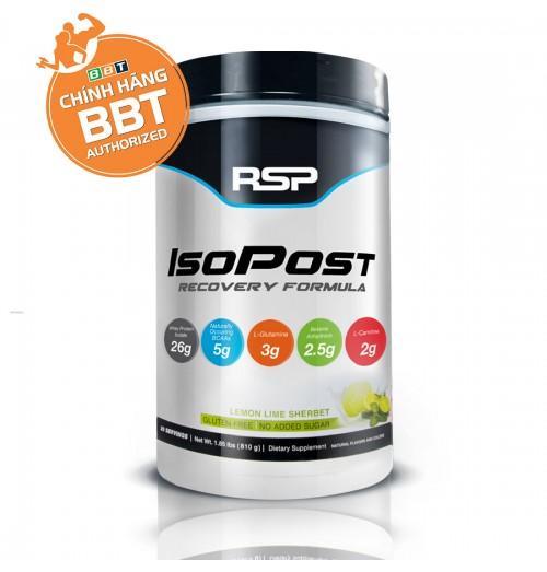 Thực phẩm chức năng RSP IsoPost Whey Lean Tăng Cơ Giảm Mỡ vị Lemon lime + Tặng bình lắc ngẫu nhiên nhập khẩu