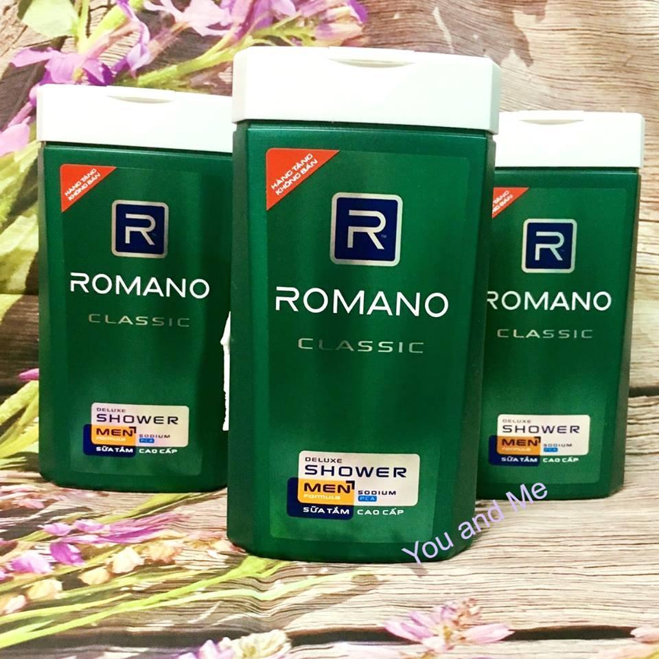 Combo 3 chai Sữa Tắm Cao cấp Nam Romano Classic 150g*3 (hàng tặng) nhập khẩu