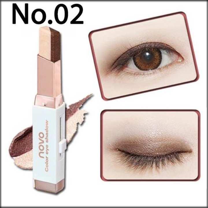 Phấn mắt dạng thỏi Novo Eyeshadow Stick 2 line No.5099 - 6 màu tiện lợi 3.8g