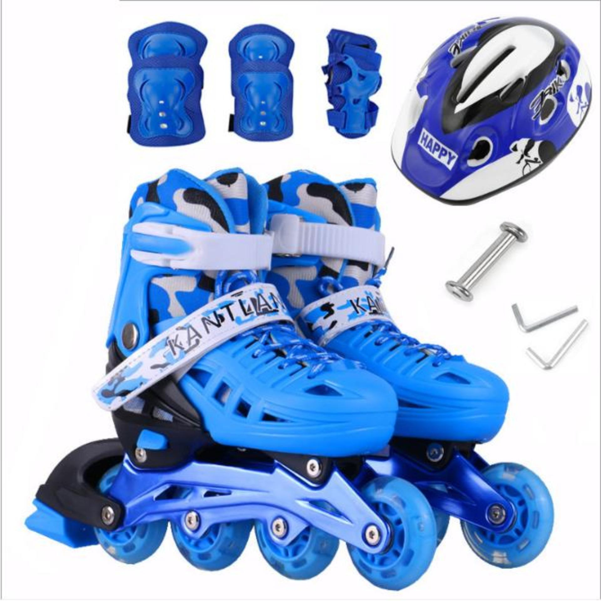 Shop ban giay patin,giá bán giày trượt patin - Giày Patin Trẻ Em, Chắc Chắn, Ôm Sát Chân Chân,  Giúp Bé Vui Chơi Thỏa Thích Mà Lại An Toàn, Sản Phẩm Cao Cấp -Tặng Kèm Bộ Bảo Hộ Đáng Yêu  - Mẫu Mới 2072