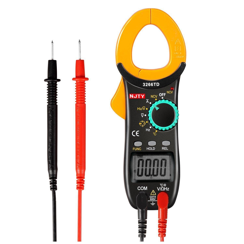 Ampe kìm kẹp mét NJTY 3266TD bỏ túi, công cụ sửa chữa điện , điện lạnh đo được nhiệt độ.