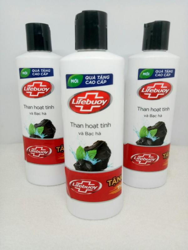 Combo 3 Chai Sữa Tắm Dexto Lifebuoy Than Hoạt Tính và Bạc Hà (200g/chai) + TẶNG 2 MÓN : tuýt kem đánh răng + túi đựng mỹ phẩm