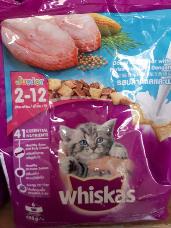 thức ăn cho mèo con whiskas 450g