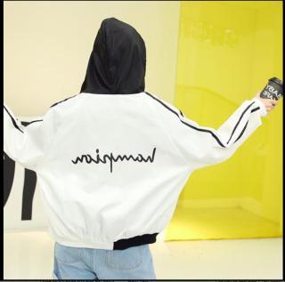 [HCM]Áo khoác gió có mũ nữ teen PKSR B070(Đen) thumbnail