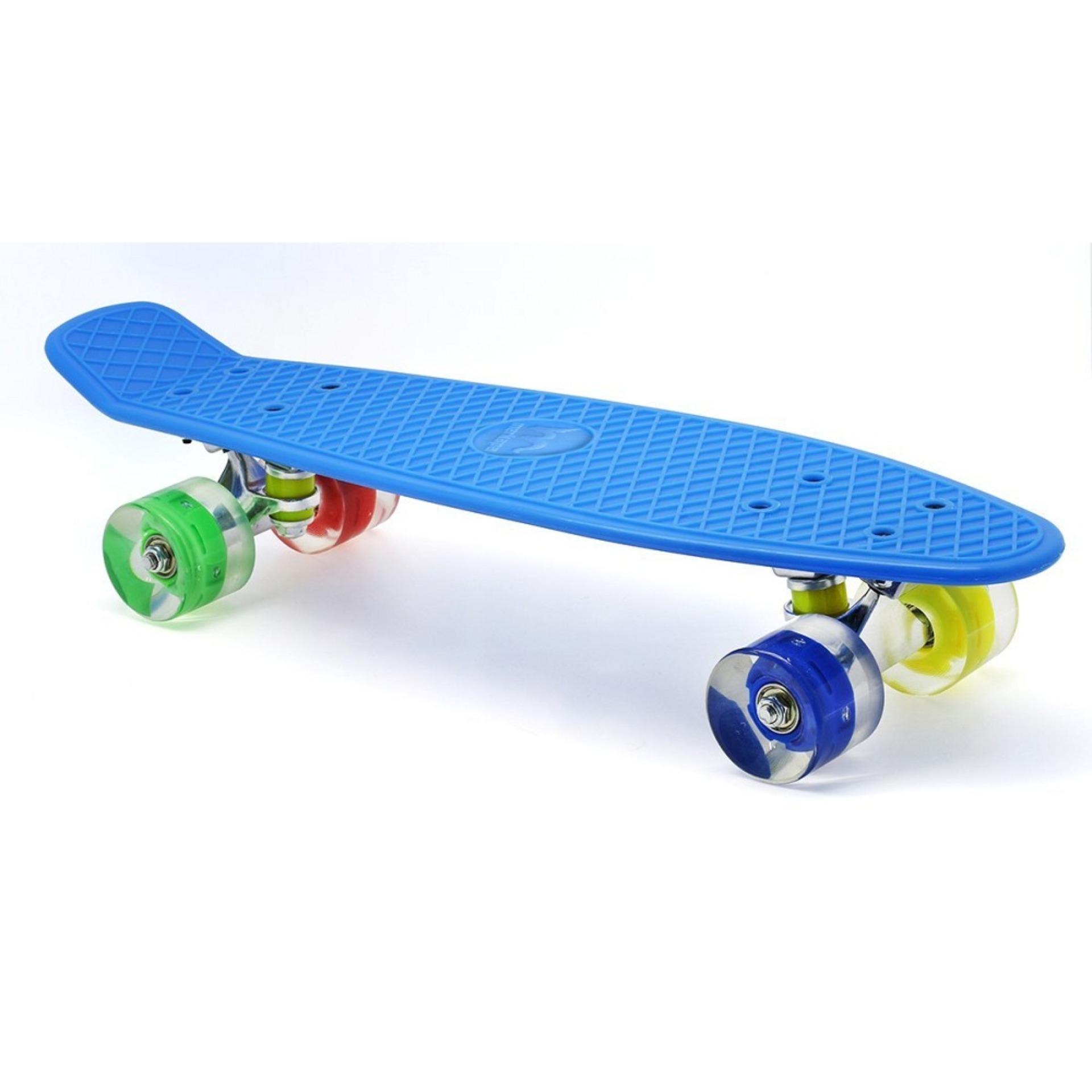 Ván Trượt Skateboard Thép Nguyên Khối Bánh 3 Lớp Có đèn Led Kamitoy Giá Rẻ Bất Ngờ