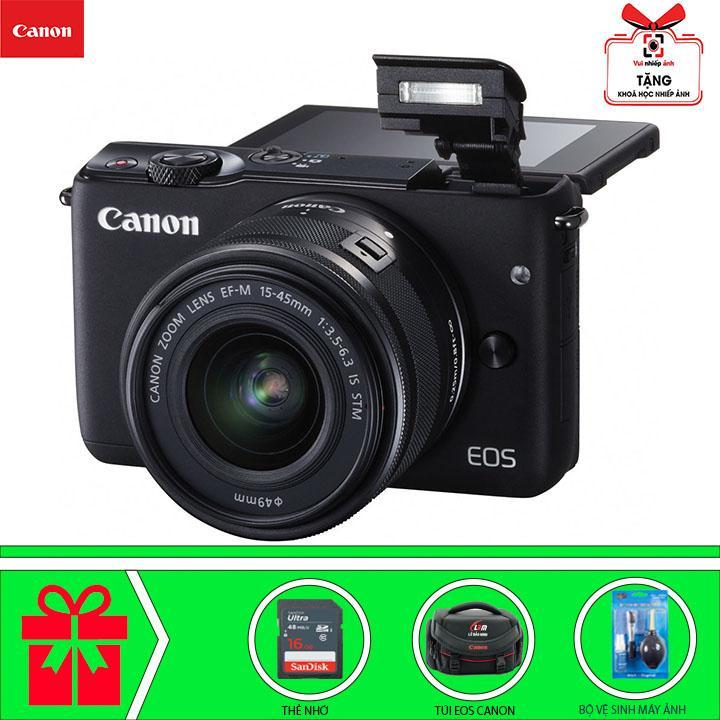 Canon EOS M10 Với Lens Kit EF-M 15-45m (Đen) Chính Hãng Canon Lê Bảo Minh Đang Ưu Đãi