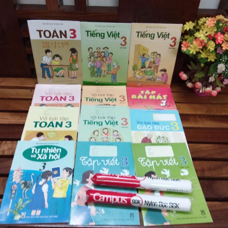 Mua Sách giáo khoa lớp 3 ( bộ sách giáo khoa lớp 3 sách + bài tập như hình +2 bọc sách
