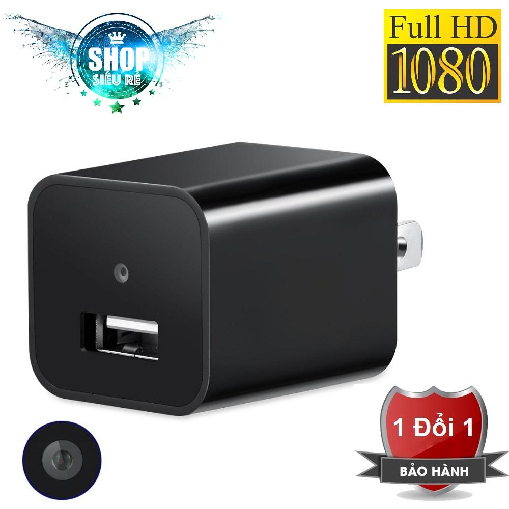 Camera an ninh, camera giấu kín dạng cốc sạc Full HD 1080P (Đen)